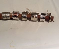 Sterling silver wide bands.  Copper, 14kt. & hearts❤️