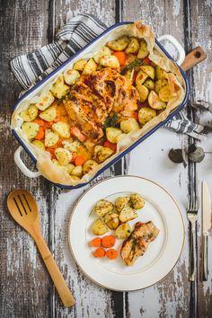 Schab pieczony w plastrach - Poezja smaku Plaster, Food And Drink, Dinner, Ethnic Recipes, Plastering, Dining, Food Dinners, Gypsum, Dinners