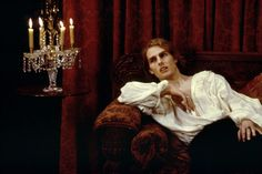 """I heard Anne Rice was against Tom Cruise playing Lestat in """"Interview with a Vampire"""". Imo Tom's apperance isn't Lestat-ish, but he did great job playing this character. Tom Cruise, Dracula, Brad Pitt, Lestat And Louis, Queen Of The Damned, Coppola, The Vampire Chronicles, Interview With The Vampire, Vampire Love"""