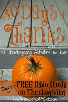 Free Bible Study on Thanksgiving . . . for Your Family {30 Days of Thanks}