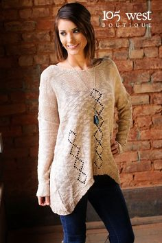 """The """"Elliot"""" Sweater $39.99 ~ S/M, M/L available at 105 West Boutique located in Abbeville, SC. (864)366-WEST. Shipping $5. Find us on Facebook and Instagram!"""