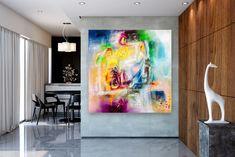 Items similar to Large Modern Wall Art Painting,Large Abstract wall art,texture art painting,abstract originals,bathroom wall art on Etsy Large Abstract Wall Art, Large Canvas Art, Bright Paintings, Unique Paintings, Abstract Paintings, Texture Painting, Texture Art, Painting Art, Large Painting