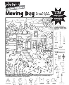Hidden Picture Puzzles Pages - Hidden Picture Puzzles Pages, Hidden Pictures Printables.highlights In the Classroom. Hidden Picture Games, Hidden Picture Puzzles, English Activities, Learning Activities, Baby Activites, Hidden Pictures Printables, Highlights Hidden Pictures, Highlights Magazine, Airplane Activities