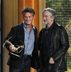 Sean Penn and Robert De Niro Young Old, Sean Penn, Morgan Freeman, Hollywood Stars, Bobby, Beautiful Men, Cinema, Actresses, Actors