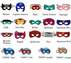 Deluxe Filz Superhelden Maske  15 Stile zur von ThePartyMomma