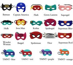 This listing is for 1 Deluxe Felt Superhero Mask Let the Imaginations Begin Made of premium quality double sided felt. One size only, these fit most ages including all children and most adults. Great