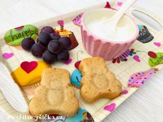 Medvídci Baby Food Recipes, Healthy Recipes, Cereal, Pancakes, Lunch, Cookies, Breakfast, Sweet, Kids