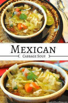 Mexican Cabbage Soup Want to lose weight, but still eat delicious food? And that's why every time I come home from a trip or start feeling like my clothes are getting tight, I make a pot of Mexican Cabbage Soup. It's like a diet soup. Healthy Recipes, Healthy Soup, Mexican Food Recipes, Vegetarian Recipes, Cooking Recipes, Diet Soup Recipes, Bread Recipes, Cooking Tips, Paleo Soup