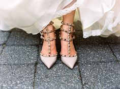Killer bridal #shoes by #valentino | Photography: http://charlottejenkslewis.com