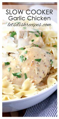 Creamy Slow Cooker Garlic Chicken