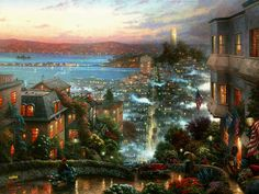 """Thomas Kinkade """"San Francisco Lombard Street"""""""