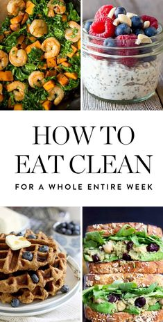 We created a plan thatll help you create 3 clean eating meals a day for 7 days s. We created a plan thatll help you create 3 clean eating meals a day for 7 days straight. Whether you make one or 21 of these recipes, youre on your way to feeling great. Clean Eating Meal Plan, Clean Eating Snacks, Clean Meals, Clean Eating Challenge, Clean Eating Breakfast, Healthy Eating Plans, Clean Eating Pizza, What Is Healthy Eating, Breakfast Healthy