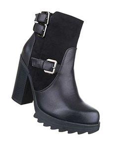 Damen Boots | Frauen-Stiefel Wadenhohe-Stiefel | Schuhe Lederoptik Schlupf- Stiefel |