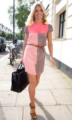 Mollie King's Colour-Block Dress Gets A Huge Thumbs Up From Us, 2011