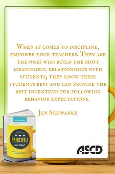 A principal's job is astonishingly complex, and its competing demands can be overwhelming, especially in the first few years. In this book, Jen Schwanke, a principal herself, provides a mentor's guidance to steer new principals through the period of adjustment and set the foundation for a long and rewarding career. The topics you wish your graduate program had covered are covered here—directly, practically, and without the jargon.