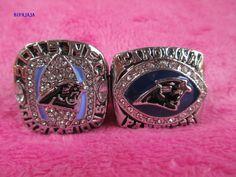 BIFAJAJA Drop Shipping 2pcs/lot 2003 2015 Carolina Panthers Americas Championship  RING Solid SIze 11  Custom