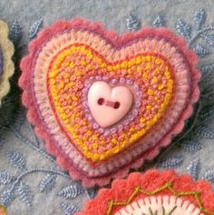 Salley Mavor- orange & pink heart