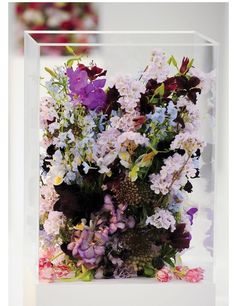 Pretty idea for a centerpiece- wildflowers inside the clear Vase :)