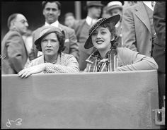 1934 - Mrs. Babe Ruth (Claire) and Mrs. Lefty Gomez at Fenway Park.