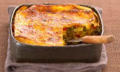 Ricetta delle lasagne bianche con verdure e fagiolini