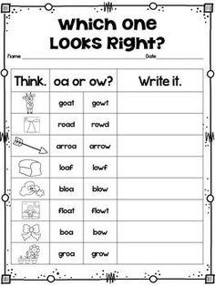 OW and OA Word Sort | Word Study & Word Work | Word sorts, Oa words ...