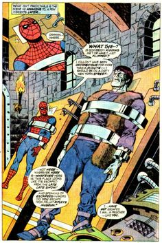 Some early Sal Buscema Spider-Man art as Spidey meets the Frankenstein Monster in Marvel Team-Up #36