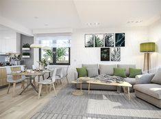 Projekt domu Tracja 3 117,19 m2 - koszt budowy 255 tys. zł - EXTRADOM Outdoor Furniture Sets, Outdoor Decor, Contemporary, Home Decor, Little Cottages, Decoration Home, Room Decor, Home Interior Design, Home Decoration