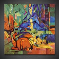 Franz Marc: Deer in the Forest II 1913