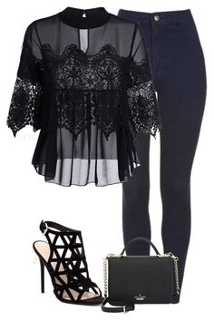 """""""Untitled #902"""" by bellax0x on Polyvore featuring RMK, Zoë Chicco, Kate Spade and Versace"""