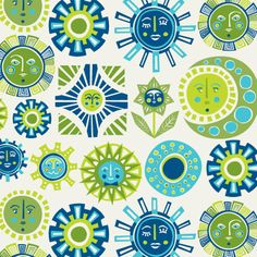 Jonathan Adler Sun Wallpaper in All Home Decor- this is a strong contender for a new feature wall in the kitchen!! :-)