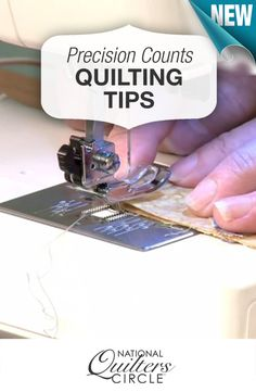 Precision counts in quilting! Here's how to prevent your quilt blocks from being different sizes >> www.nationalquilterscircle.com/video/precision-counts-when-making-a-quilt