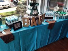 Turquoise & Brown baby Shower Baby Shower Party Ideas | Photo 17 of 39