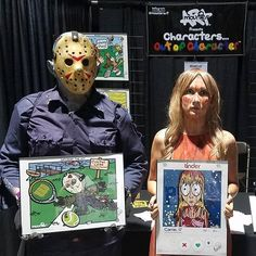 Day 1 is in the books at Midsummer Scream in Long Beach!! Can't wait for day 2 on Sunday. Such an awesome experience so far. Thanks to everyone who came by my booth (#559) to say hi and show support. See you soon!! @midsummerscream #mounierart #charactersoutofcharacter #midsummerscream