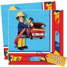 Tovaglioli Sam il Pompiere 33x33cm 20pz €2,98