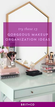Loving these 13 creative makeup organization ideas.
