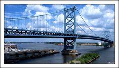 Benjamin Franklin Bridge, Across Delaware River, Philadelphia, Pennsylvania