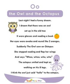 Pin By Maria Garcia On Vocales   Alphabet Activities Jolly Phonics Activities, Kindergarten Reading Activities, Phonics Reading, Reading Comprehension Worksheets, Alphabet Activities, Preschool Printables, Reading Passages, English Poems For Kids, Learning English For Kids