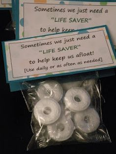 Made these for the other classroom teachers... 'LIFE SAVERS'