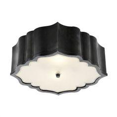 $734.90 Visual Comfort AH4025 Alexa Hampton Balthazar 3 Light Flush Mount with Frosted Glass
