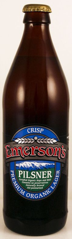 Emerson's from Dunedin NZ - supposed to be the best in the region - this Pilsner was a bit too hoppy for my taste, but well made none the less