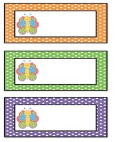 preschool name tag templates - free printable butterfly name tags the template can also
