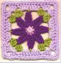 Daisy Square - Made it - was smaller than expected so I had to adjust the pattern at the end by adding a round of double crochet (2dc, ch 3, 2dc ~ in corners) and a round of single crochet (1sc, ch 2, 1sc ~ in corners)