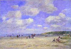 Beach at Tourgeville les Sablons - Eugene Boudin (Monet's mentor)