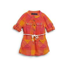 2c829476 Plaid Shirt Dress Tommy Hilfiger Kids, Very Cute Baby, Wardrobe Makeover,  Girl House