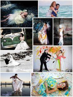 Trash the dress sesión de fotografía: nueva alternativa para tus fotos de casamiento