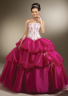 Strapless ball gown Quinceanera dress
