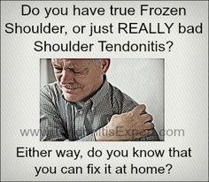 Here is a home treatment for frozen shoulder, simple and effective. Treating frozen shoulder isn't rocket science, but certain factors need to be dealt with or you're not going to get the benefit. Frozen Shoulder Exercises, Shoulder Workout, Shoulder Stretches, Neck Stretches, Shoulder Pain Relief, Neck And Shoulder Pain, Frozen Shoulder Surgery, Frozen Shoulder Treatment, Rotator Cuff Exercises