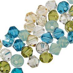 5328 4mm Swarovski Elements Crystal Mix - Beachy
