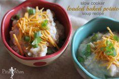 A surprisingly easy delicious slow cooker baked potato soup recipe. soup,  loaded,  #recipe