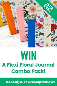 Enter the giveaway to win beautiful floral journals from @thepaperystationery